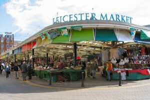 [An image showing Leicester Market]